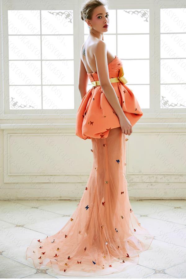 ピンク上質カラードレス