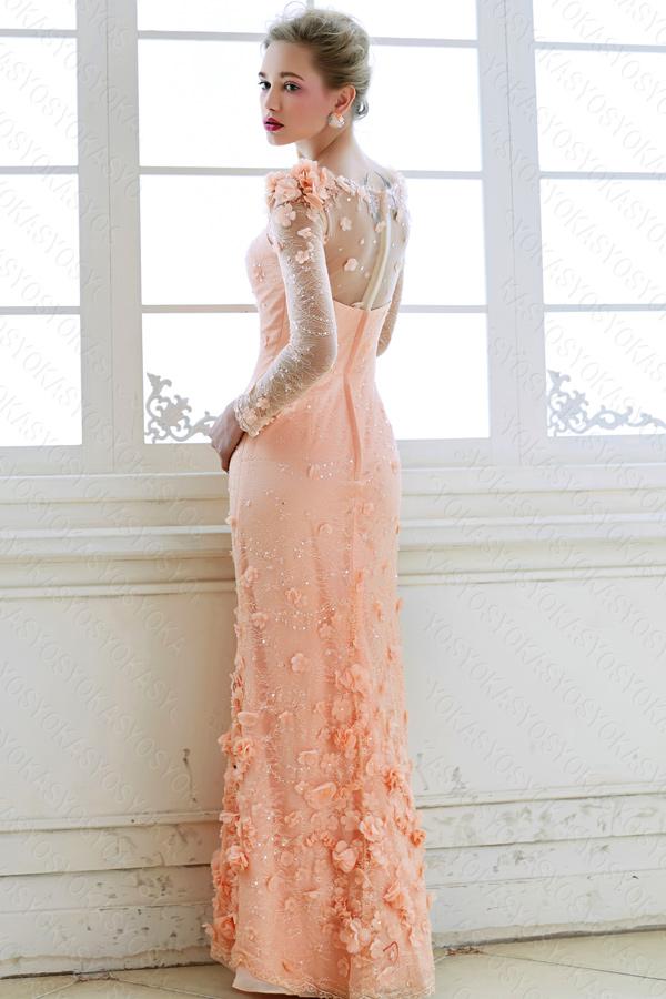 パーティーに二次会にピンクの穏やかドレス